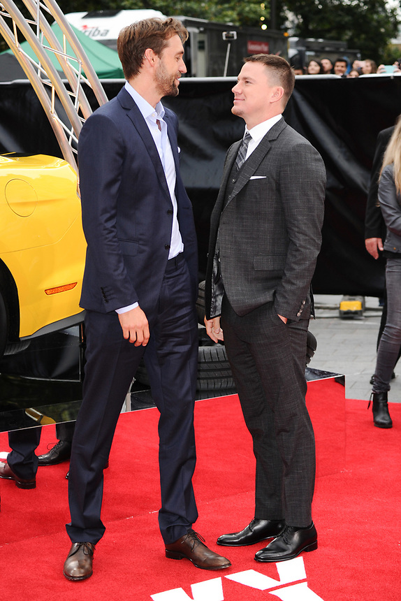 """producer, Reid Carolin and Channing Tatum<br /> attending the premiere of """"Logan Lucky"""" at the Vue West End, Leicester Square, London. <br /> <br /> <br /> ©Ash Knotek  D3295  21/08/2017"""