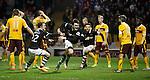 John Souttar celebrates his goal for Dundee Utd