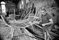- shipyard for construction of traditional wooden boats in Scilla village....- cantiere navale per la costruzione di barche in legno tradizionali nel paese di Scilla