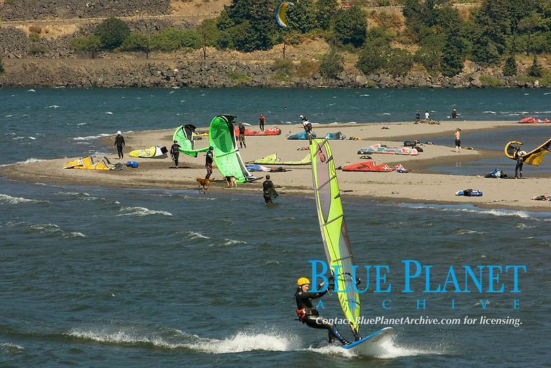 Windsurfing on the Columbia River near the town of Hood River, Oregon (no MR)