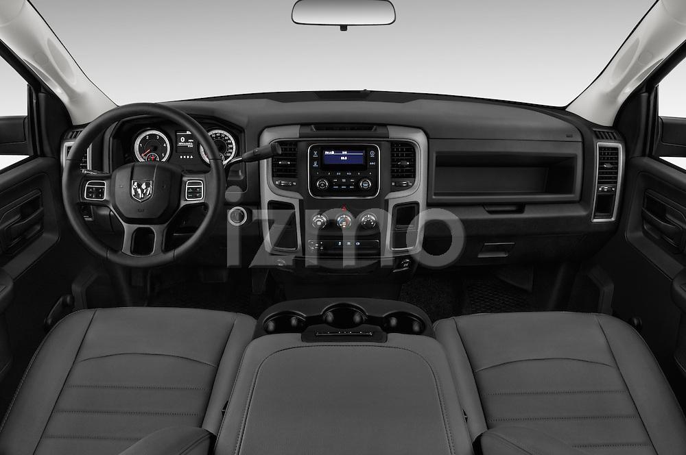Stock photo of straight dashboard view of 2018 Ram Ram-3500-Pickup Tradesman-Regular-cab 4 Door Pick-up Dashboard
