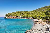 Dragonera beach in Agistri island, Greece