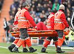 Real Sociedad's Sergio Canales injured during La Liga match. December 30,2015. (ALTERPHOTOS/Acero)