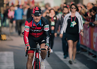 Simon Gerrans (AUS/BMC) at the very last start of a pro-race in Europe<br /> <br /> 112th Il Lombardia 2018 (ITA)<br /> from Bergamo to Como: 241km