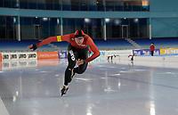 SCHAATSEN: HEERENVEEN: 10-10-2020, KNSB Trainingswedstrijd, Lennard Velema, ©foto Martin de Jong