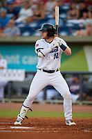 Pensacola Blue Wahoos Travis Blankenhorn (32) during a Southern League game against the Biloxi Shuckers on May 3, 2019 at Admiral Fetterman Field in Pensacola, Florida.  Pensacola defeated Biloxi 10-8.  (Mike Janes/Four Seam Images)