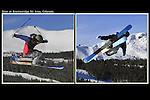 Freeskier in the Freeway Terrain Park, Breckenridge Ski Area, Colorado.