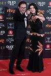 Carlos Santos and Laia Marull attends red carpet of Goya Cinema Awards 2018 at Madrid Marriott Auditorium in Madrid , Spain. February 03, 2018. (ALTERPHOTOS/Borja B.Hojas)