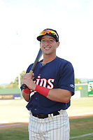 Elizabethton Twins Spencer Steer (31) poses for a photo prior to a game against the Kingsport Mets at Northeast Community Credit Union Ballpark on July 5, 2019 in Elizabethton, Tennessee. The Twins defeated the Mets 7-1. (Tracy Proffitt/Four Seam Images)