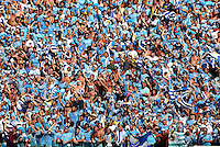 Uruguay supporters celebrate their winning goal by Diego Godin