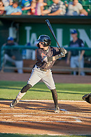 Cam Coursey (11) of the Missoula Osprey at bat against the Ogden Raptors at Lindquist Field on August 12, 2019 in Ogden, Utah. The Raptors defeated the Osprey 4-3. (Stephen Smith/Four Seam Images)
