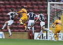 03/10/2009  Copyright  Pic : James Stewart.sct_jspa_01_motherwell_v_falkirk  .LUKAS JUTKIEWICZ SCORES THE FIRST FOR MOTHERWELL..James Stewart Photography 19 Carronlea Drive, Falkirk. FK2 8DN      Vat Reg No. 607 6932 25.Telephone      : +44 (0)1324 570291 .Mobile              : +44 (0)7721 416997.E-mail  :  jim@jspa.co.uk.If you require further information then contact Jim Stewart on any of the numbers above.........