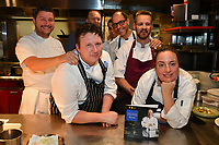 MELBOURNE, 30 June 2017 – Scott Pickett ,Barry Davis, Philippe Mouchel, Joe Vargetto, Stuart Bell and Sasha Randle pose for a photograph before a dinner celebrating Philippe Mouchel's 25 years in Australia with six chefs who worked with him in the past at Philippe Restaurant in Melbourne, Australia.