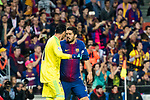 Luis Alberto Suarez Diaz (R) of FC Barcelona argues with goalkeeper Keylor Navas of Real Madrid during the La Liga 2017-18 match between FC Barcelona and Real Madrid at Camp Nou on May 06 2018 in Barcelona, Spain. Photo by Vicens Gimenez / Power Sport Images