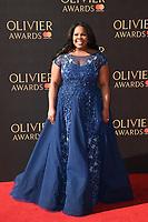 Amber Riley<br /> arriving for the Olivier Awards 2017 at the Royal Albert Hall, Kensington, London.<br /> <br /> <br /> ©Ash Knotek  D3245  09/04/2017