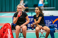Wateringen, The Netherlands, December 15,  2019, De Rhijenhof , NOJK juniors doubles, Final girls 12 years, Britt de Pree (NED) Lina Ilahi (NED) (R)<br /> Photo: www.tennisimages.com/Henk Koster