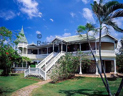 Jamaika, St. Ann, Ochos Rios: Harmony Hall   Jamaica, St. Ann, Ochos Rios: Harmony Hall
