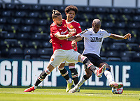 18th July 2021; Pride Park, Derby, East Midlands; Pre Season Friendly Football, Derby County versus Manchester United;  Alex Telles of Manchester United