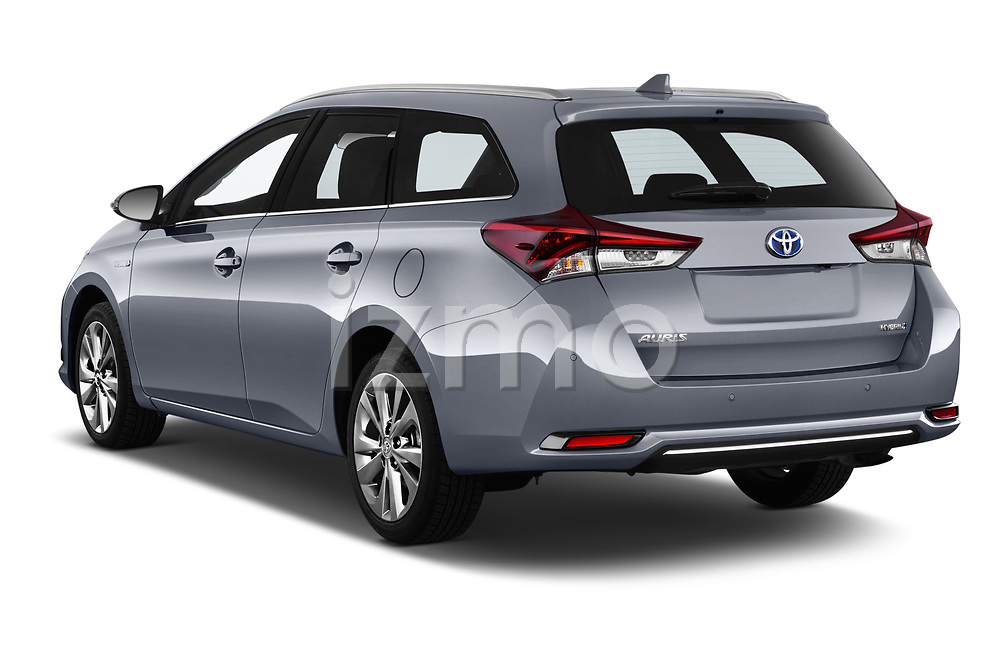 Car pictures of rear three quarter view of a 2018 Toyota Auris Touring Sports Lounge 5 Door Wagon angular rear