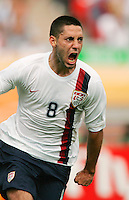 U.S. midfielder (8) Clint Dempsey celebrates his goal in the first half. Ghana defeated the USA 2-1 in their FIFA World Cup Group E match at Franken-Stadion, Nuremberg, Germany, June 22, 2006. Ghana advances to round of 16 and the USA is out of the tournament.