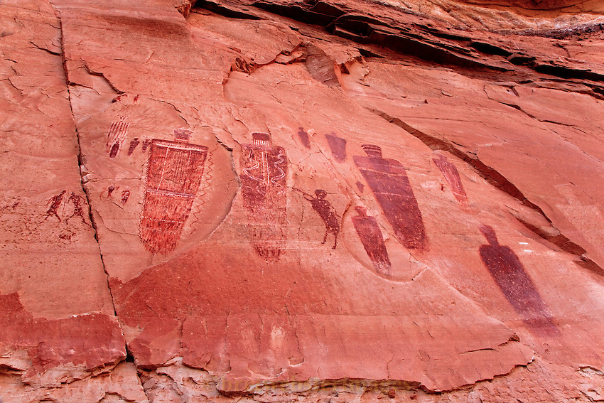 A portion of the Great Gallery in Horseshoe Canyon.