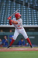 AZL Reds Sebastian Almonte (16) at bat during an Arizona League game against the AZL Cubs 2 on July 23, 2019 at Sloan Park in Mesa, Arizona. AZL Cubs 2 defeated the AZL Reds 5-3. (Zachary Lucy/Four Seam Images)