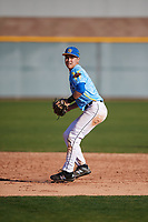 Andrew Kim (6) of Libertyville High School in Libertyville, Illinois during the Baseball Factory All-America Pre-Season Tournament, powered by Under Armour, on January 13, 2018 at Sloan Park Complex in Mesa, Arizona.  (Mike Janes/Four Seam Images)
