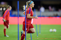 San Jose, CA - Sunday November 12, 2017: Julie Ertz during an International friendly match between the Women's National teams of the United States (USA) and Canada (CAN) at Avaya Stadium.