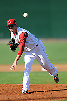 Lowell Spinners starting pitcher Corey Littrell #37 during a game versus the Batavia Muckdogs at LeLacheur park in Lowell, Massachusetts on August 3, 2013. (Ken Babbitt/Four Seam Images)