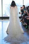 "Model Helen walks runway in a ""Priscilla"" bridal gown from the Rivini Spring Summer 2017 bridal collection by Rita Vinieris at The Standard Highline Room, during New York Bridal Fashion Week on April 15, 2016."