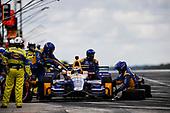 Verizon IndyCar Series<br /> Kohler Grand Prix<br /> Road America, Elkhart Lake, WI USA<br /> Sunday 25 June 2017<br /> Alexander Rossi, Andretti Herta Autosport with Curb-Agajanian Honda pit stop<br /> World Copyright: Michael L. Levitt<br /> LAT Images
