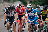 Peter Sagan (SVK/Bora-Hansgrohe) & Fernando Gaviria (COL/Quick-Step Floors) chatting their way up the final climb towards Leukerbad<br /> <br /> Stage 5: Gstaad > Leukerbad (155km)<br /> 82nd Tour de Suisse 2018 (2.UWT)