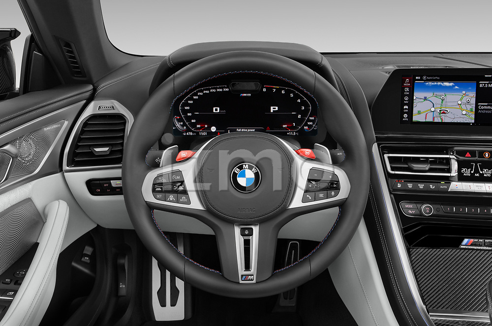 Car pictures of steering wheel view of a 2021 BMW M8 M8-Competition 2 Door Coupe Steering Wheel