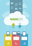 Illustrative image of cloud computing