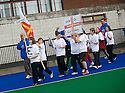 PUPILS FROM PRESTONFILED PRIMARY TEAM UP WITH GUERNSEY AS THEY TAKE PART IN THE OPENING CEREMONY OF THE TOUCH WORLD CUP YOUTH FESTIVAL AT PEFFERMILL.