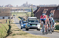 Mathieu Van der Poel (NED/Alpecin-Fenix) now leading the breakaway group<br /> <br /> 73rd Kuurne - Brussels - Kuurne 2021<br /> ME (1.Pro)<br /> 1 day race from Kuurne to Kuurne (BEL/197km)<br /> <br /> ©kramon