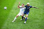 14.06.2021 Scotland v Czech Republic:  Lyndon Dykes with Jan Bonl