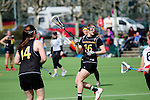 FRANKFURT AM MAIN, GERMANY - April 14: Anna Blank #16 of Germany during the Deutschland Lacrosse International Tournament match between Germany vs Austria on April 14, 2013 in Frankfurt am Main, Germany. Germany won, 10-4. (Photo by Dirk Markgraf)