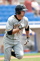 Jeremy Farrell (17) of the Bradenton Marauders during a game vs. the Dunedin Blue Jays May 16 2010 at Dunedin Stadium in Dunedin, Florida. Bradenton won the game against Dunedin by the score of 3-2.  Photo By Scott Jontes/Four Seam Images