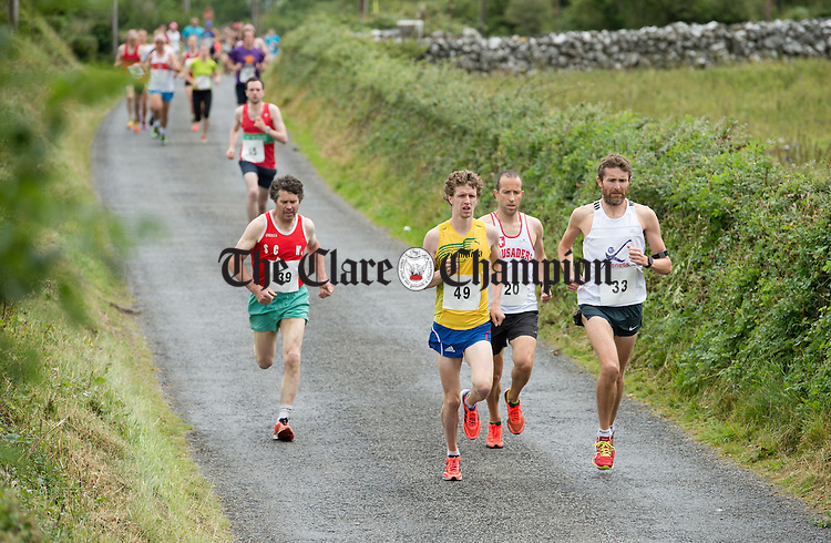 Some of the athletes competing at the Martin Egan 10k road race in Shanaglish. Photograph by John Kelly.