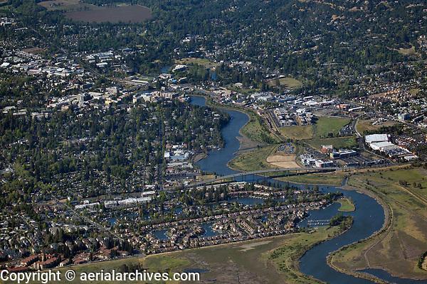 aerial photograph of the City of Napa and the Napa River, Napa County, California