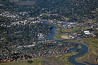 aerial photograph of the City of Napa and the Napa River, Napa County, California