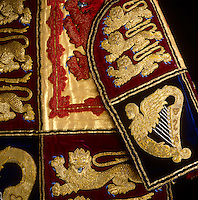 Detail of the Victorian tabard worn by the Garter King of Arms