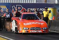 Feb. 22, 2013; Chandler, AZ, USA; NHRA funny car driver Johnny Gray during qualifying for the Arizona Nationals at Firebird International Raceway. Mandatory Credit: Mark J. Rebilas-