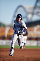 Lake County Captains second baseman Alexis Pantoja (26) runs the bases during a game against the Quad Cities River Bandits on May 6, 2017 at Modern Woodmen Park in Davenport, Iowa.  Lake County defeated Quad Cities 13-3.  (Mike Janes/Four Seam Images)