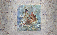 Roman Erotic Fresco from Pompeii depicting Satyr being rejected by Hermaphrodite, Naples National Archaeological Museum - 50-79 AD , inv no 110878 , Secret Museum or Secret Cabinet