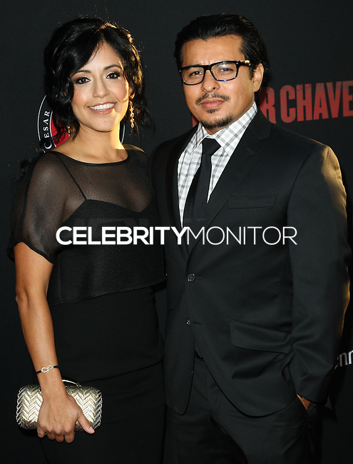 """HOLLYWOOD, LOS ANGELES, CA, USA - MARCH 20: Sylvia Arzate, Jacob Vargas at the Los Angeles Premiere Of Pantelion Films And Participant Media's """"Cesar Chavez"""" held at TCL Chinese Theatre on March 20, 2014 in Hollywood, Los Angeles, California, United States. (Photo by Celebrity Monitor)"""