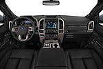 Stock photo of straight dashboard view of 2018 Ford Expedition XLT 5 Door SUV Dashboard