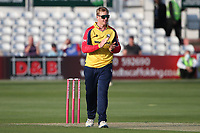 Simon Harmer of Essex celebrates taking the wicket of Tom Alsop during Essex Eagles vs Hampshire Hawks, Vitality Blast T20 Cricket at The Cloudfm County Ground on 11th June 2021