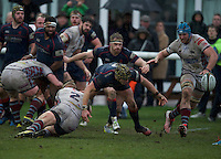 George Turner of London Scottish Football Club during the Greene King IPA Championship match between London Scottish Football Club and Rotherham Titans at Richmond Athletic Ground, Richmond, United Kingdom on 1 January 2017. Photo by Alan  Stanford.